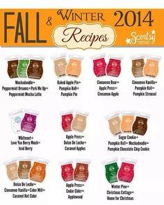 Fun fall scentsy scent recipes! http://jenandthecity.scentsy.us/