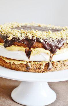chute a vône mojej kuchyne. Czech Recipes, Russian Recipes, Ethnic Recipes, Sweet Desserts, Sweet Recipes, Celebration Cakes, Shortbread, Nutella, Tiramisu