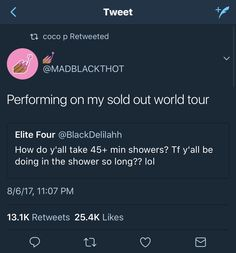 Not only singing but also conditioning, shaving, exfoliating, all the works bitch tf