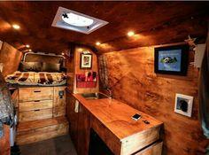 Gypsy Caravan, Betty White, Sprinter Van Conversion, Camper Conversion, Vw Bus, Mercedes Sprinter Camper Van, Plywood Cabinets, Cargo Trailer Camper, Van Design