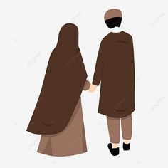 Illustration Of Husband And Wife Who Are One Way In The Bond Love For Allah, Muslimah, Happy, Islam PNG Transparent Clipart Image and PSD File for Free Download
