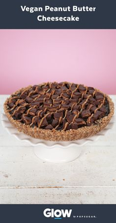 Treat your taste buds to this peanut butter cheesecake you won't believe is vegan!
