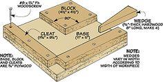 WoodNet.net - The Woodworker's Online Resource - Miter Joint Gluing Jig