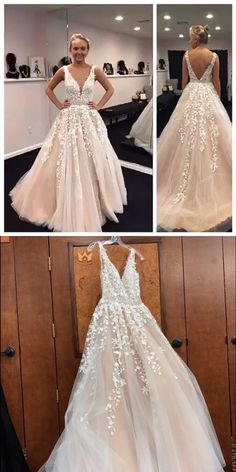 Sexy Appliques A-Line Prom Dresses,Long Prom Dresses,Cheap Prom Dresses, Evening #longpromdresses