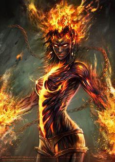 The Abyssal Firestorm 18d50cd66a3201d539cf95d116f8b874--fantasy-art-goth