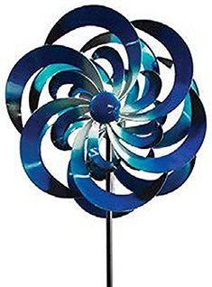 Windward Gardens Big Sky Wind Spinner, Blue