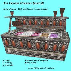Ice Cream Freezer (metal) box