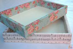 forrar cajas con papel, decorar cajas, cajas de madera, personalizar cajas…