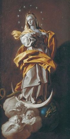 theraccolta: Immaculate Conception by Francesco De Mura 1720 Catholic Art, Religious Art, Immaculée Conception, Blessed Mother Mary, Mary And Jesus, Classical Art, Sacred Art, Renaissance Art, Christian Art