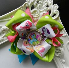 """My Little Pony Over the Top Boutique Hair Bow ~ My Little Pony Party.  VISIT MY ETSY STORE AND RECEIVE 15% OFF YOUR PURCHASE.  ENTER PROMO CODE """"PINTEREST"""""""
