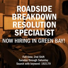 Now Hiring in Green Bay, WI! Come check this awesome opportunity! Mechanic Jobs, Green Bay, Opportunity, Awesome, Check