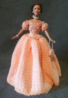 Crochet barbie dreses