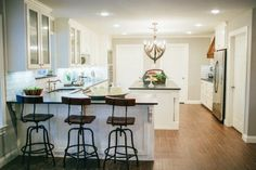 Fixer Upper Season 2 |  Chip and Joanna Gaines House Renovation | The Tree House | Kitchen Remodel | Pendant Lights | Bar stools | Kitchen Island