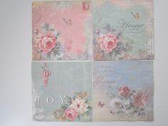 """Servietten Set """"Sweet Home """"  von Ana Servietten  auf DaWanda.com"""