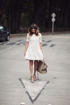 drop waist dress and leopard heels