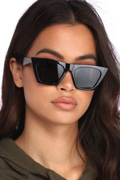 9bb3c4c75af Flat Top Cat Eye Sunglasses
