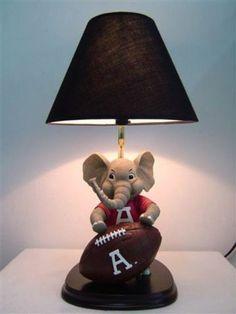 ALABAMA CRIMSON TIDE BIG AL TABLE LAMP