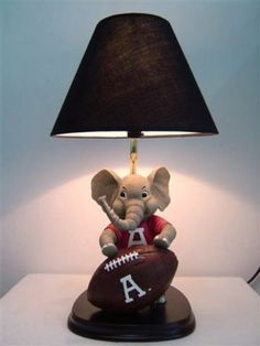 ALABAMA CRIMSON TIDE BIG AL TABLE LAMP