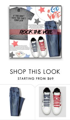 """""""Comfy Rock"""" by sherieme ❤ liked on Polyvore featuring Civic Duty, Lands' End, redwhiteandblue, Vote, topset, polyvorecontest and rockthevote"""