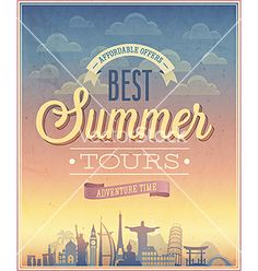 Summer travel tours vector by aviany on VectorStock®