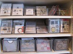 Nice storage idea for CTMH stamps