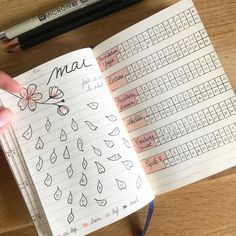 Bullet journal mood et activity tracker, mois de Mai Celine, Bullet Journal Tracker, Mood Tracker, Illustration, Activities, A5, Pen Illustration, Bullet Journal, India Ink