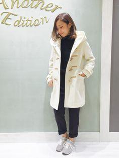 白のダッフルコート : 毎日の参考に♡冬コートの着こなしがおしゃれなコーデ集〈2014 A/W〉 - NAVER まとめ