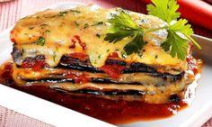 Lazanha de beringela e abobrinha ligth | Massas > Lasanha de Berinjela | Receitas Gshow