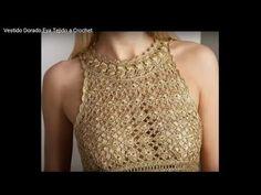 DIY CROCHET PONTO VESTIDO DOURADO EVA- A PEDIDO # na descrição tem o vestido ( PAP) - YouTube