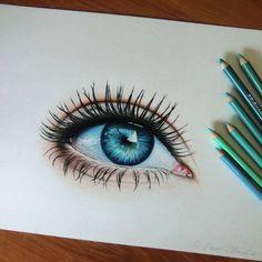 Olhos, um costume dos desenhistas. Desenho feito por pamslaats