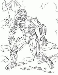 Iron Man Kleurplaten Voor Kinderen Kleurplaat En Afdrukken Tekenen N 7