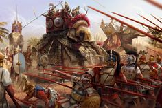 Diadochi Wars by ManuLaCanette on DeviantArt Ancient Rome, Ancient Greece, Ancient History, Military Art, Military History, War Elephant, Empire Romain, Armadura Medieval, Hellenistic Period