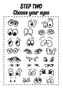 How to Draw Cartoon Faces – Printable A4 Workbook | Design The Dream