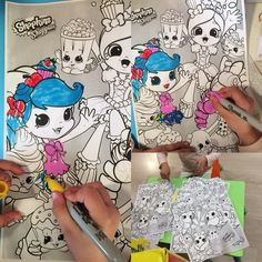 I am getting my Shoppies colouring ready for my birthday party. Can't wait to colours them in with my friends. @shopkinsworld  #shopkins #shoppies #kid #colouring #cute #fun #party #birthday #colour