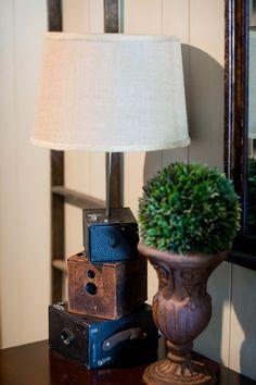 Old camera lamp.