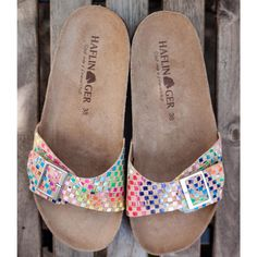 Sandale femei Haflinger piele - Bio Gina Multi Red - HipHip.ro Women's Summer Fashion, Ski, Organic Cotton, Slip On, Clothes For Women, Sandals, Womens Fashion, Outerwear Women, Shoes Sandals