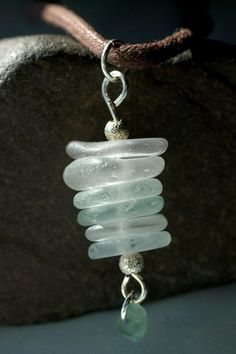 Forever - Stacked Sea Glass Pendant. $25.00, via Etsy.