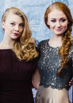 Natalie Dormer & Sophie Turner. Natalie is my favorite Anne Bolyn