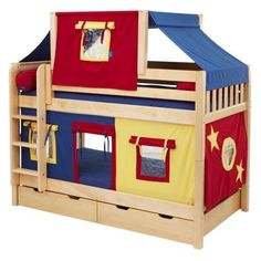 Hot Shot Boy Twin over Twin Deluxe Tent Bunk Bed