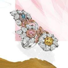 """Art of Jewels on Instagram: """"Surround yourself with people who allow you to blossom 💐 This bouquet contains three highly rare, natural fancy colored diamonds."""" 4 Diamonds, Colored Diamonds, Third, Bouquet, Fancy, Jewels, Natural, People, Instagram"""