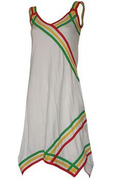 rasta dress in white