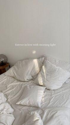 Creative Instagram Stories, Instagram Story Ideas, Aesthetic Bedroom, White Aesthetic, Korean Aesthetic, My New Room, My Room, Bedroom Inspo, Bedroom Decor