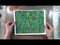 All you need is a (Gelli Arts) gel plate, a brayer and some paints. Wait until you see the results!