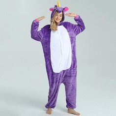 eb8d790ca9 LLYGE Winter Women Long Sleeve Animal Pajamas Set 2018 Warm Kawaii Flannel  Hooded Soft Pyjamas Women s Cartoon Unicorn Sleepwear