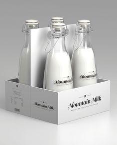 Packaging botella de leche