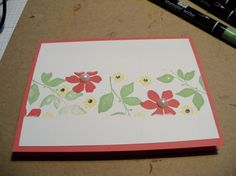 strawberry flowers by luvs2stamp2 - Cards and Paper Crafts at Splitcoaststampers