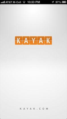 Kayak iPhone splash screens screenshot