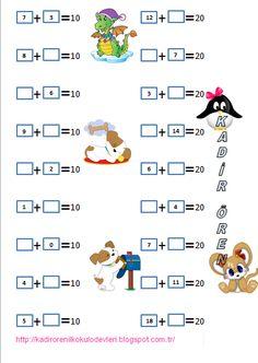 ilkokul ödevleri: 10 veya 20'ye tamamlama-1