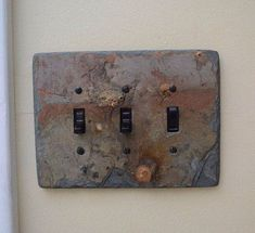 Decorative Slate Switch Plate 3 Triple Toggle by VermontSlateArt