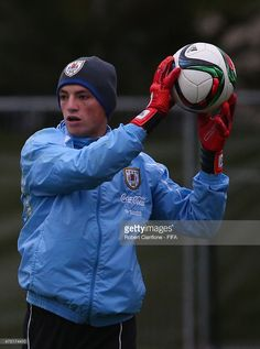 Uruguay goalkeeper Thiago Cardozo during Uruguay goalkeeper training at Logan Park prior to the FIFA U-20 World Cup on May 30, 2015 in Dunedin, New Zealand.